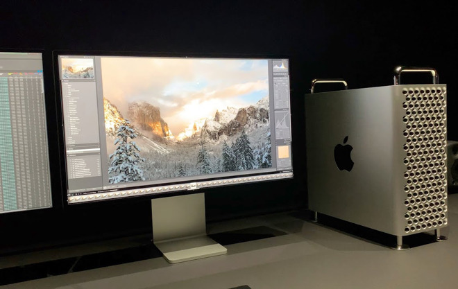 The 2019 Mac Pro with its new monitor