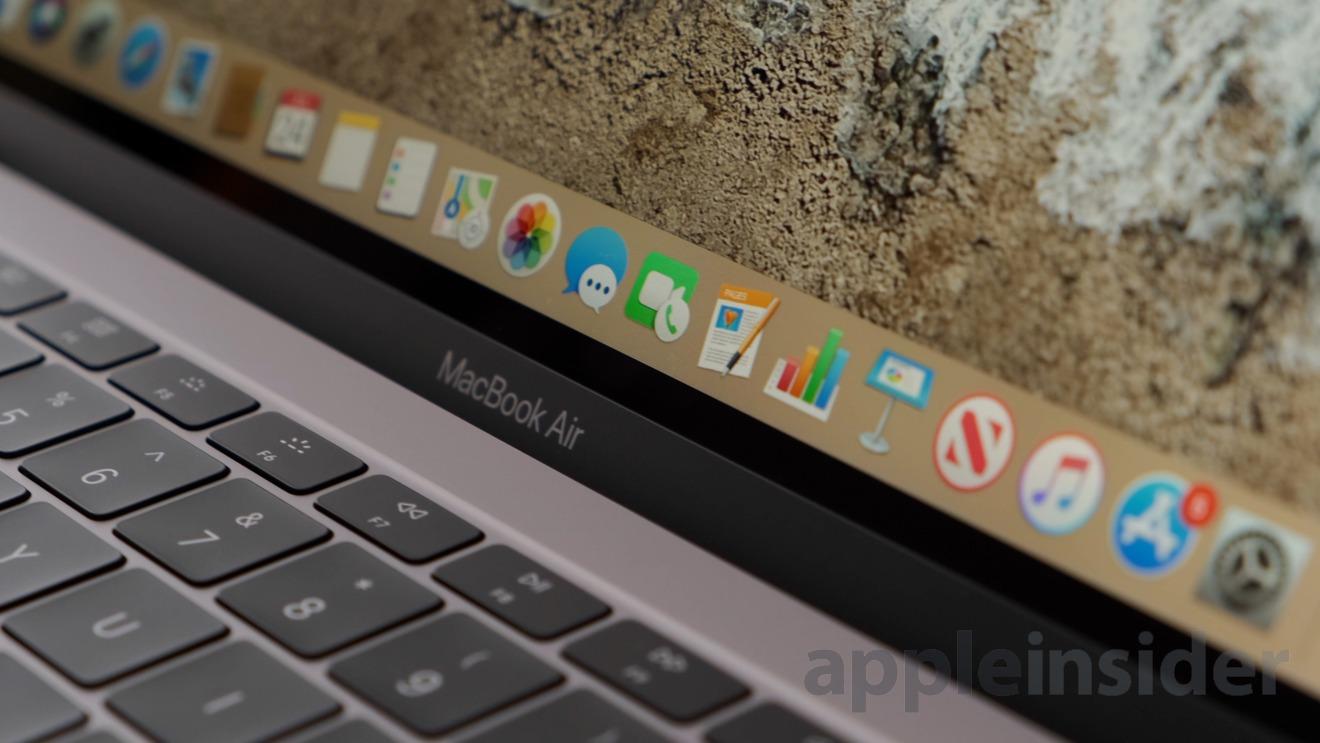 MacBook Air logo below the display