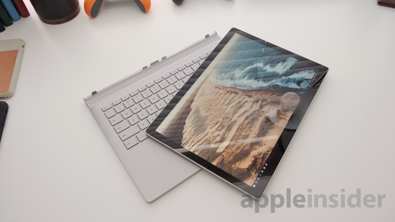 Microsoft Surface Book 2 in tablet mode