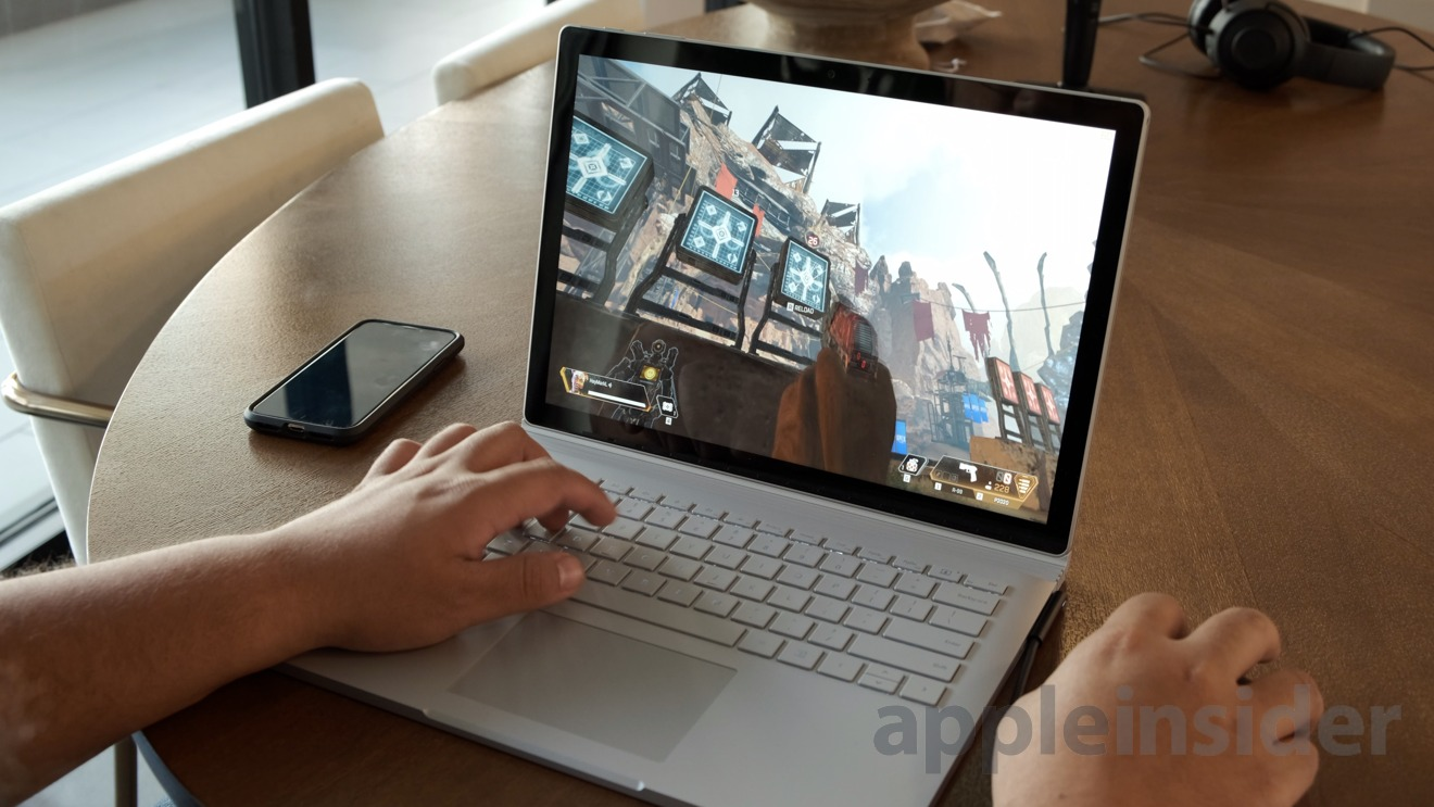Gaming on Microsoft Surface Book 2