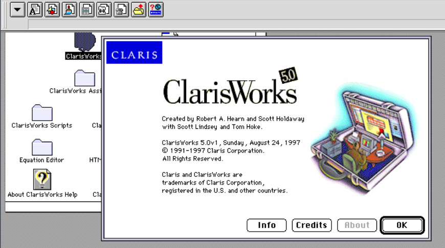 This is what software looked like when we last had a company named Claris