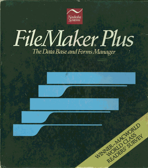 An early version of what would become FileMaker Pro (image: Philosophy of FileMaker)