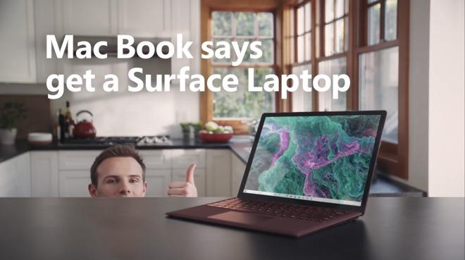 """Microsoft """"cà khịa"""" Apple cực mạnh trong clip quảng cáo laptop mới"""