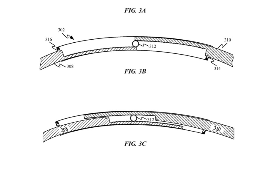 Detail from a patent regarding folding a headband for transport