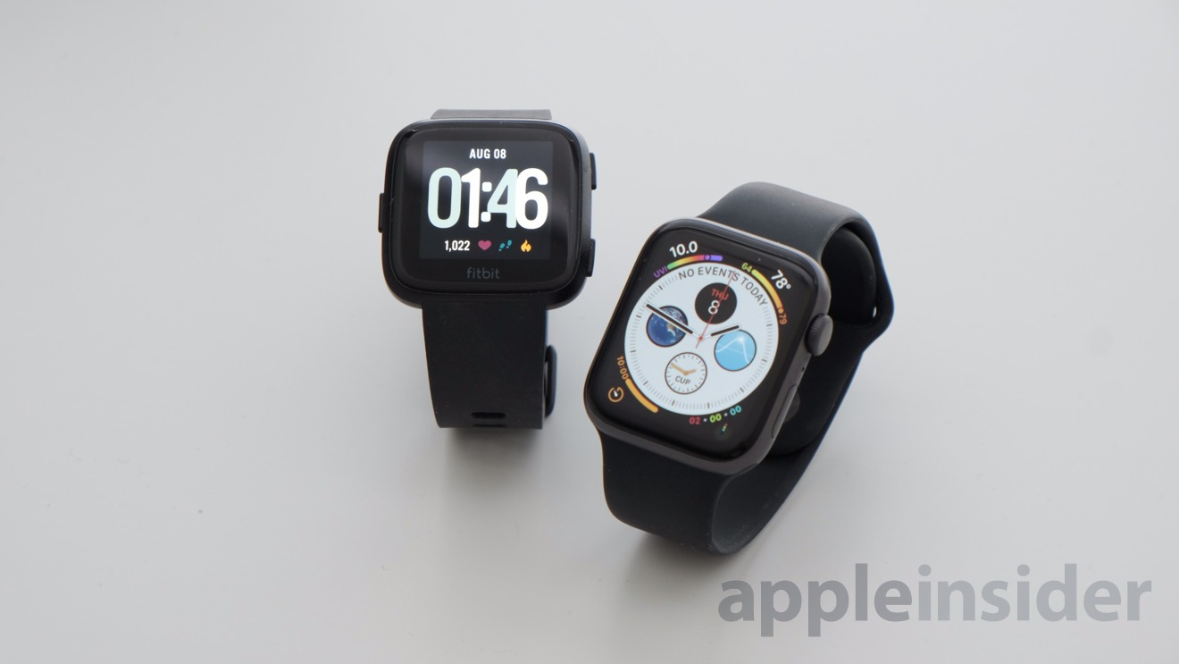 Apple Watch Series 4 vs Fitbit Versa: OLED is clearly the far more superior display tech