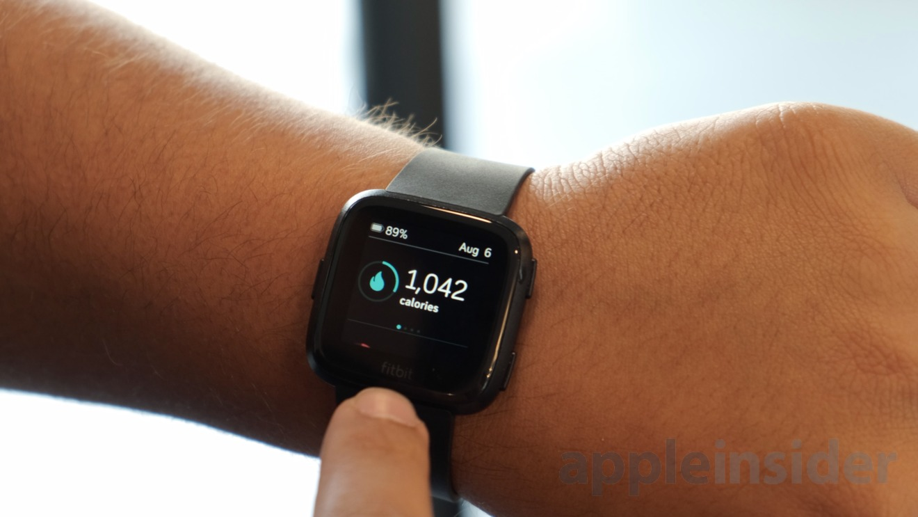 Track your daily health and workout goals on the Fitbit Versa