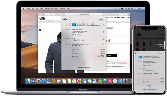 Apple Pay on the web in macOS Mojave, and iOS 12