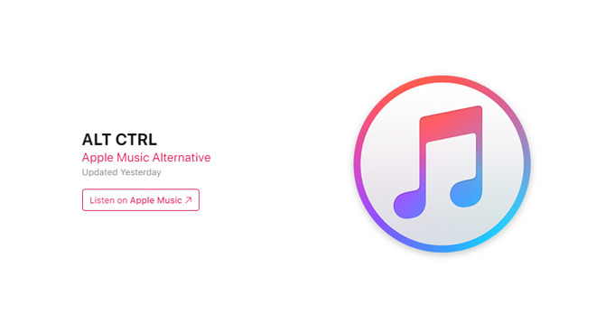 Apple has rebranded it's alternative playlist -- formerly known as the A-List, to ALT CTRL.