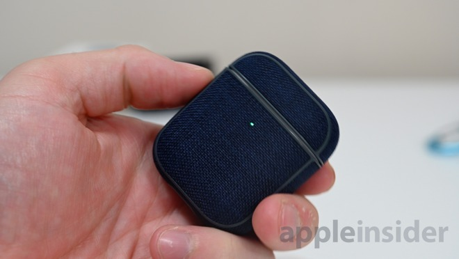 Incase Woolenex AirPods case in dark blue