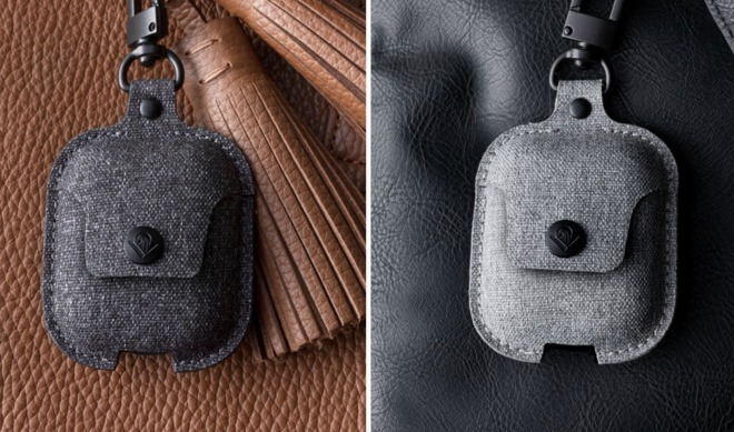 Twelve South's AirSnap in Twill Smoke (left) and Fog (right)