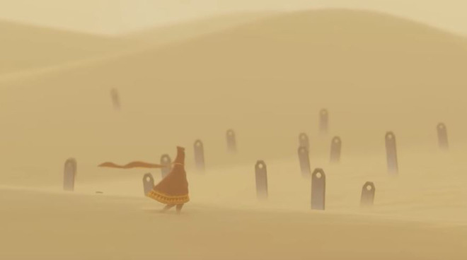 Both Sky and Journey feature narratives with no language