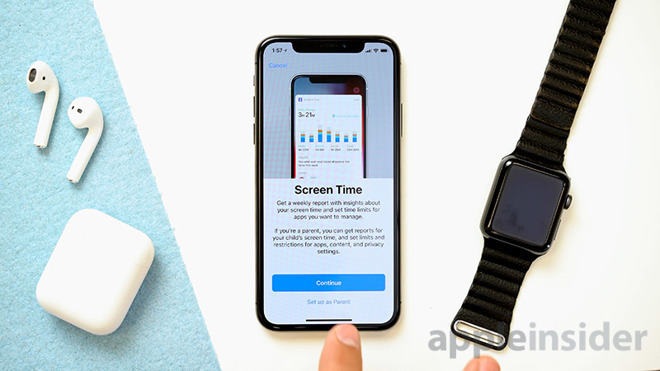 Apple's Screen Time in iOS 12 on assorted devices