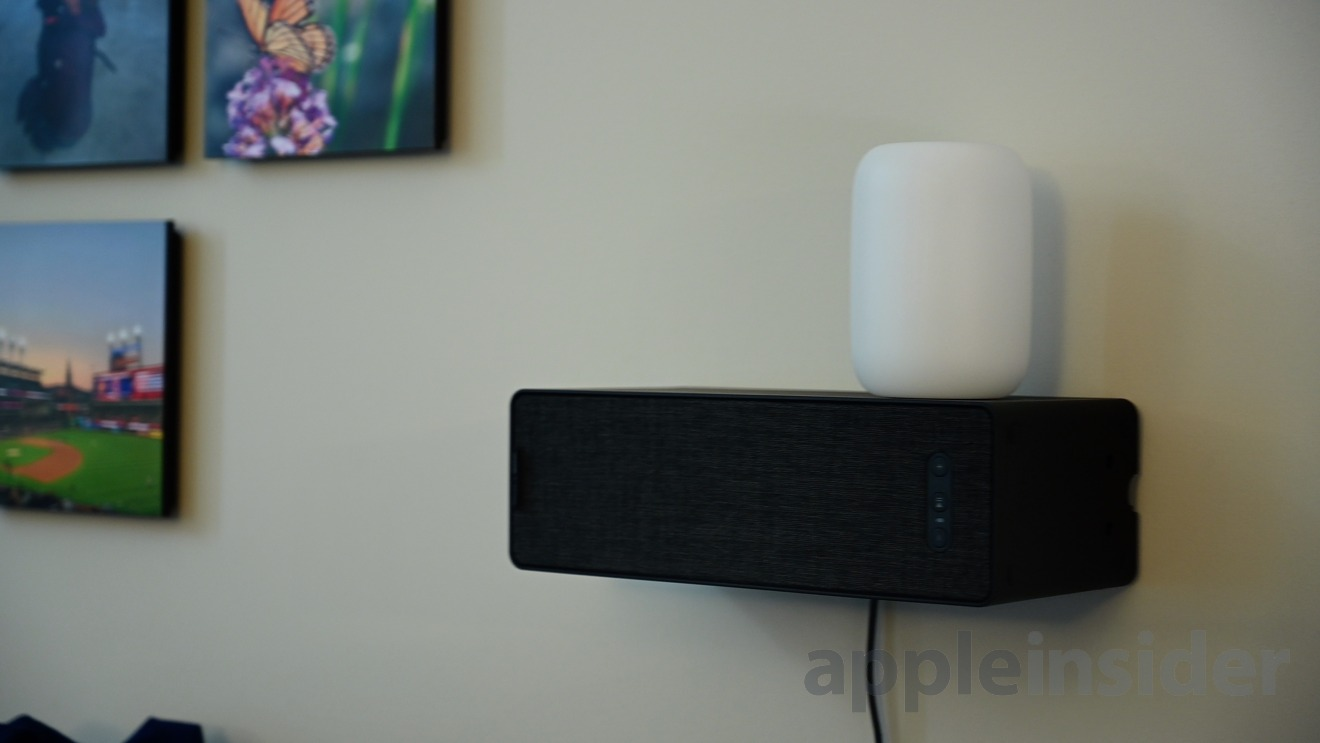 Symfonisk Bookshelf can be mounted on the wall