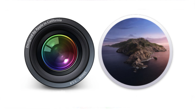 Old and new together. Left: Aperture. Right: macOS Catalina