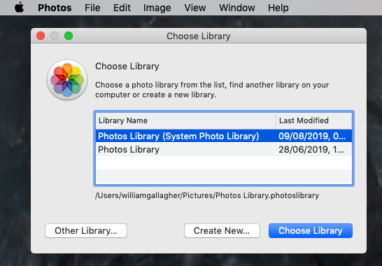 Photos can still import an old Aperture library