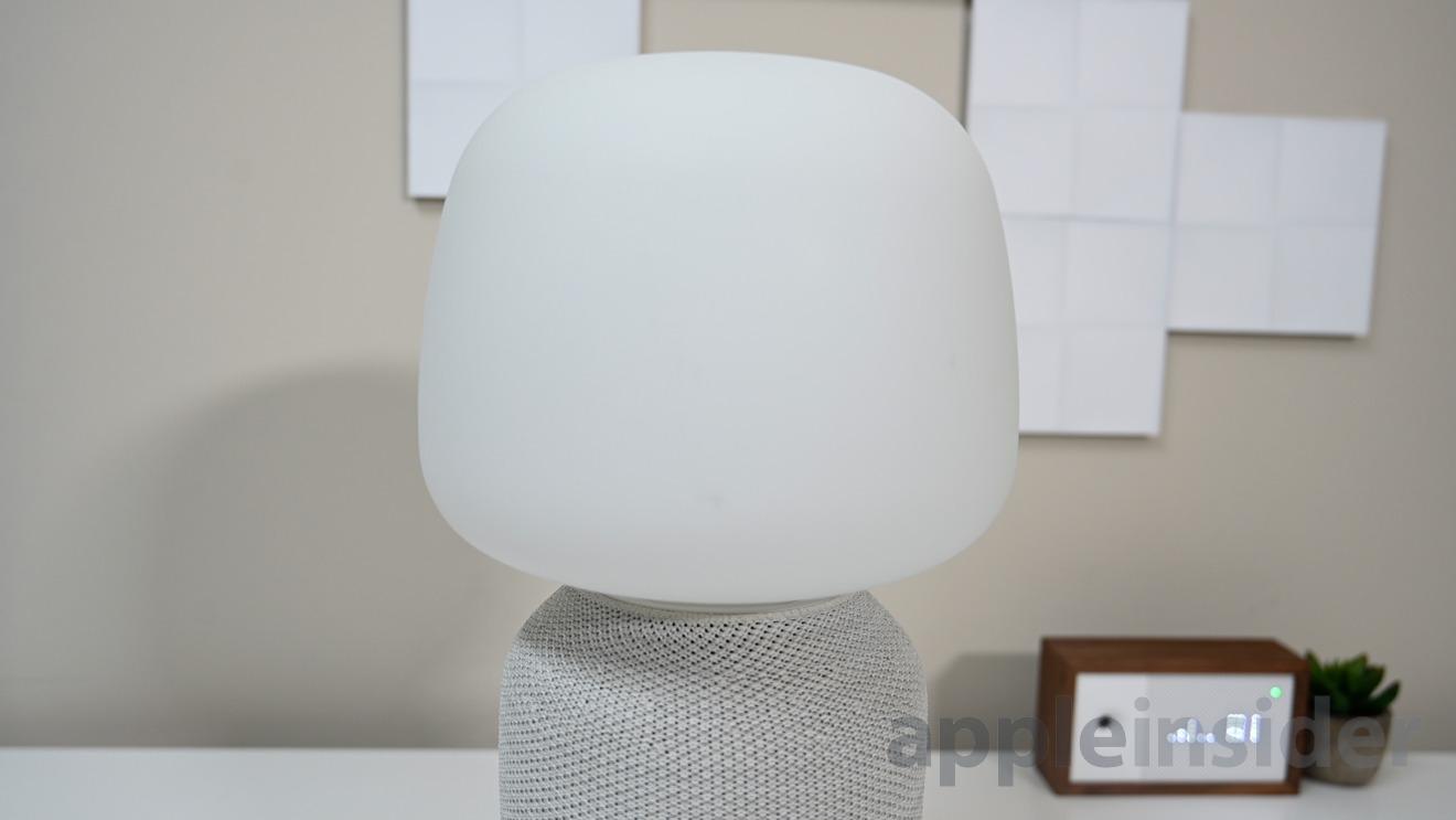 The glass top of the Symfonisk table lamp speaker
