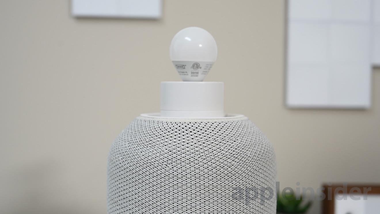 The Symfonisk table lamp speaker uses an E12 bulb