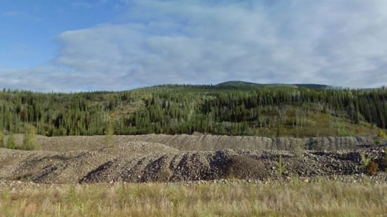 Example of tailing pile, left over by mining efforts