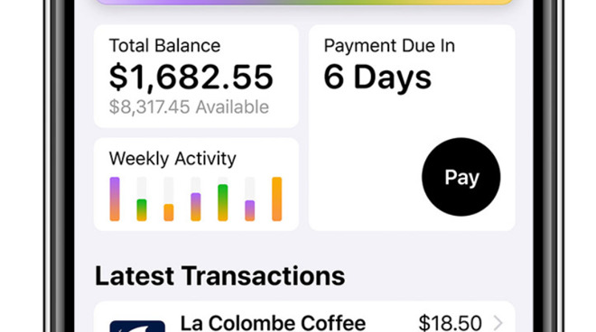 No hunting online for statements, Apple Card shows you both your balance and your payment date right there in your face.