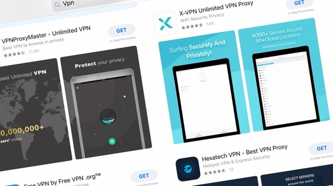 Risky free VPNs still available in Apple App Store & Google