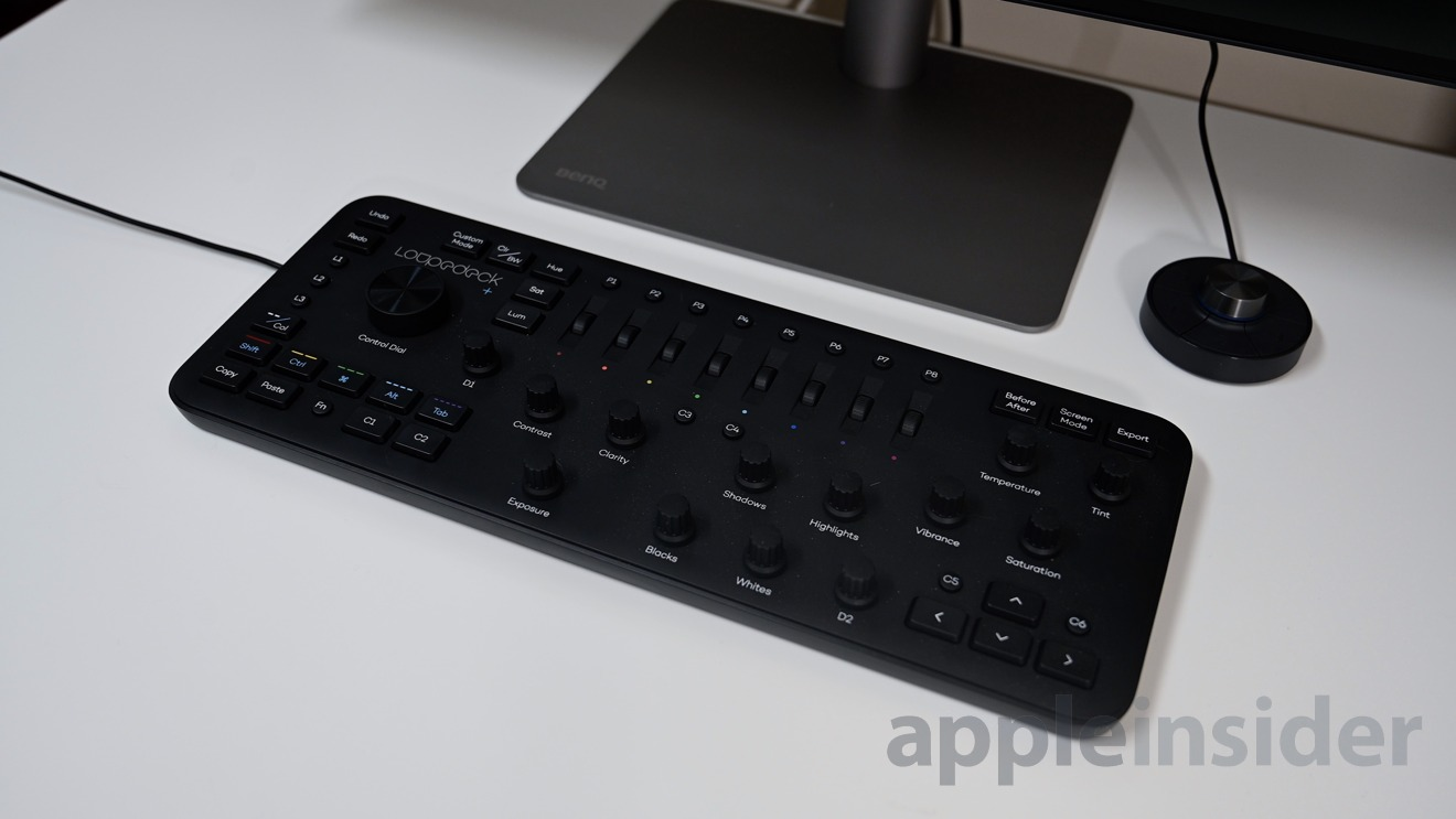 Designer's will love this monitor as we use our Loupedeck+ keyboard