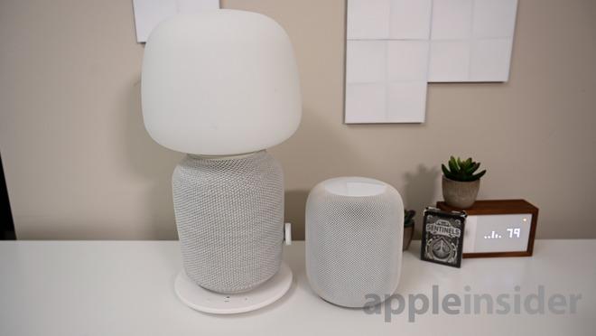 Apple HomePod and the Ikea Symfonisk lamp speaker