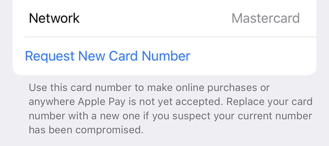 Requesting a new card number is always one tap away
