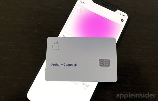 The Apple Card comes without a traditional number printed on the front