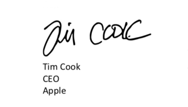 Tim Cook signs Business Roundtable's document on behalf of Apple