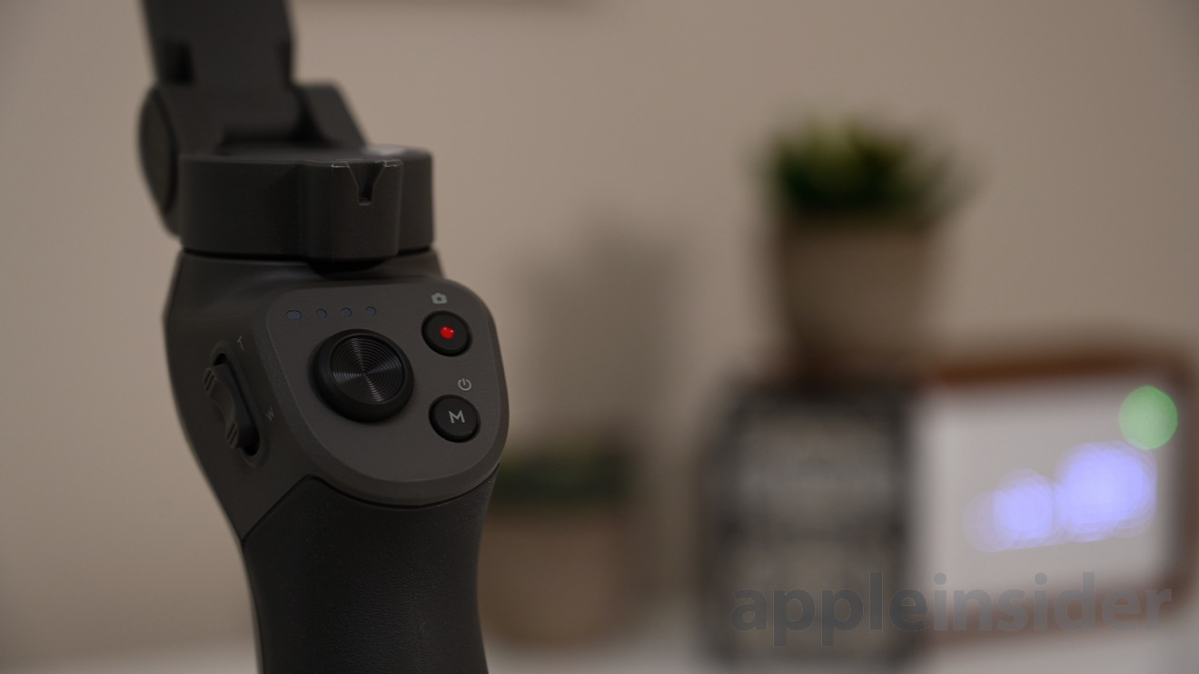 The controls of the DJI OSMO Mobile 3