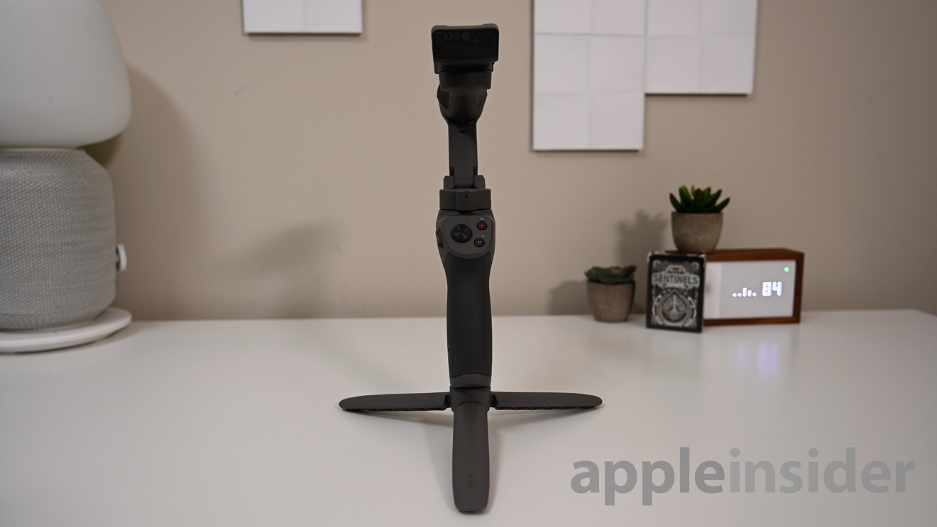 The DJI OSMO 3 on its tripod (included in combo kit)