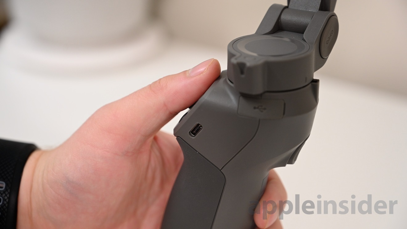 DJI OSMO 3 has a USB-C port for charging and a USB-A output for your device