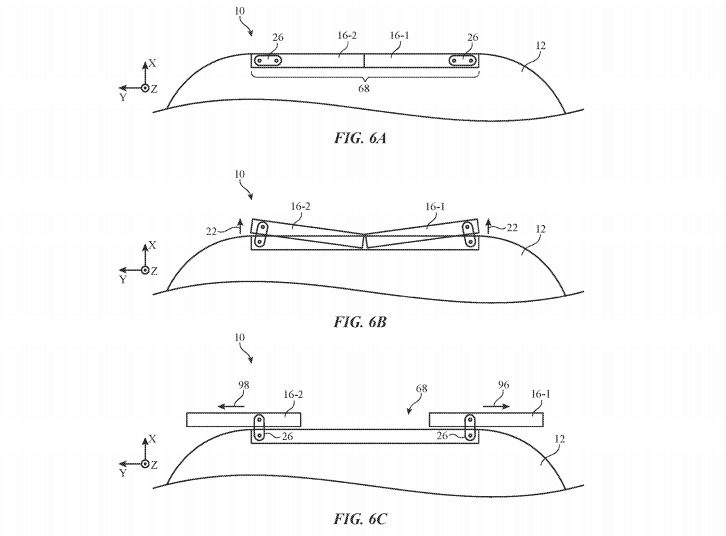 Apple's doors could have actuators at the sides to allow them to slide out more easily