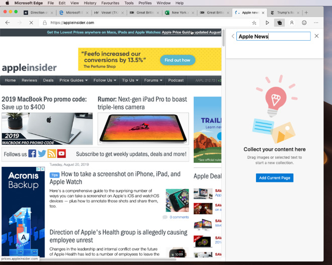 Hands on: Microsoft Edge browser beta for Mac gains