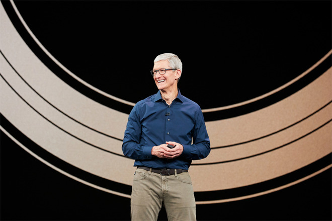 Tim Cook at the 2018 iPhone release event