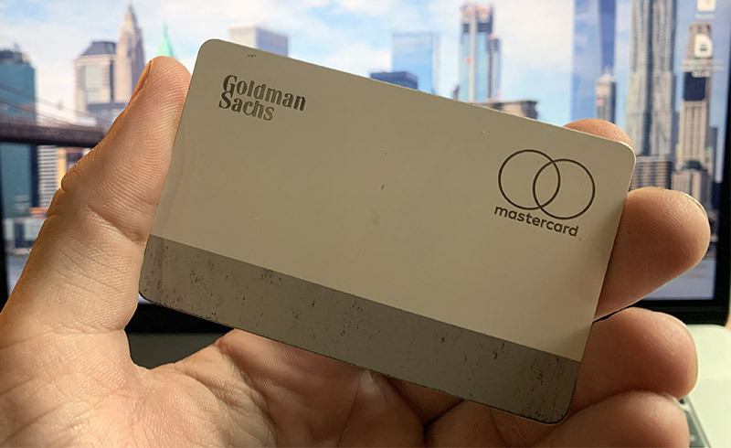 Titanium Apple Card shows signs of wear after just one month