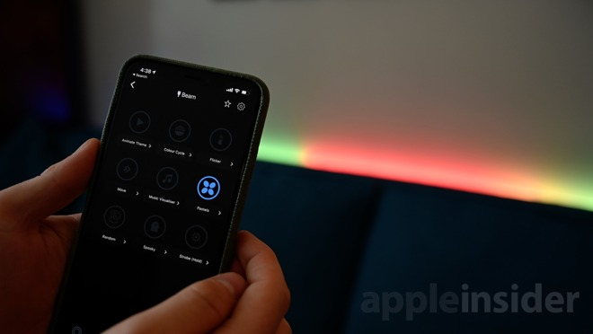LIFX Beam smart light effects in the LIFX app