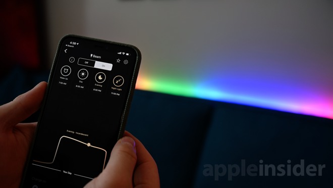 Scheduling lighting effects in the LIFX app