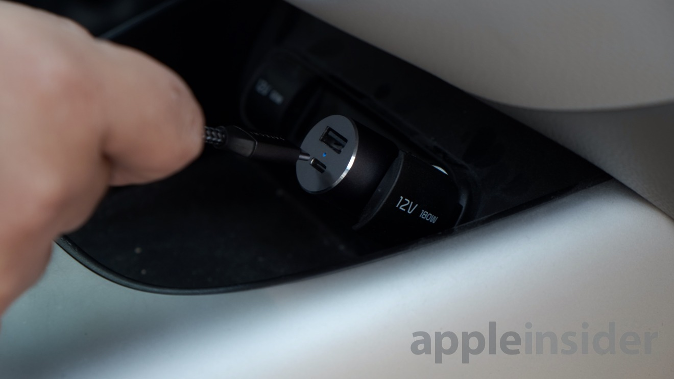 The Satechi 72W USB-C PD Car charger fits in practically any car