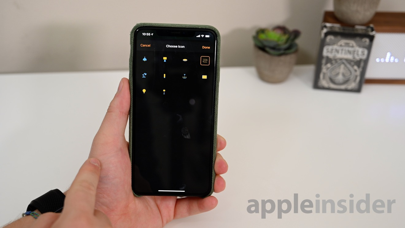 Lights, fans, and outlets all got new icons in iOS 13.1