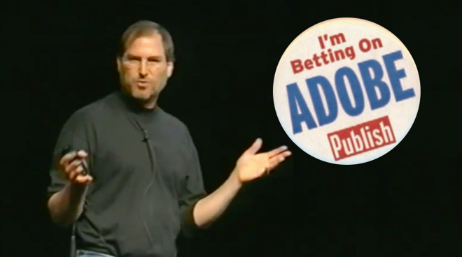 In 1998, it was Steve Jobs who gave the world its first peek at what would become Adobe InDesign