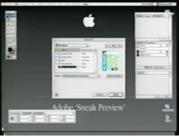 Even though this is from K2, an early pre-release version, you can still recognize it as Adobe InDesign
