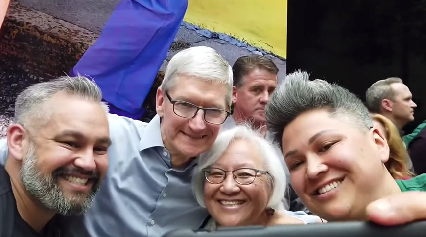 Tim Cook at the opening of Apple Carnegie Library