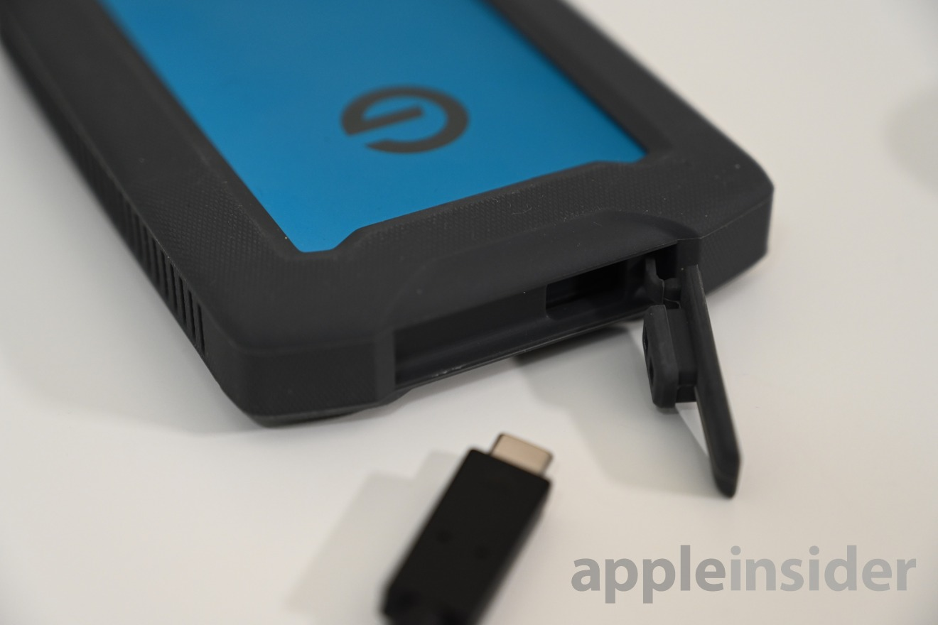 G|Drive ArmorATD has a water and dust cover for the USB-C port