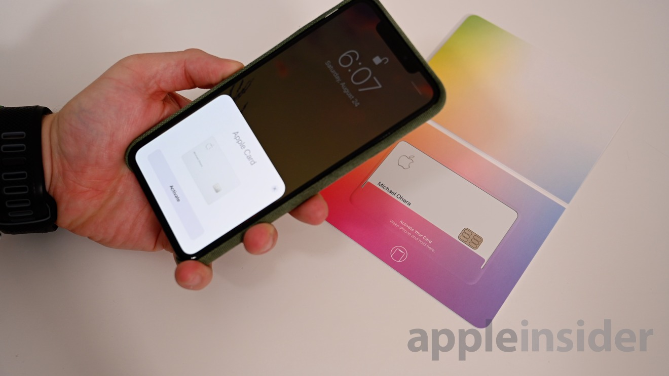 Apple Card is activated via NFC
