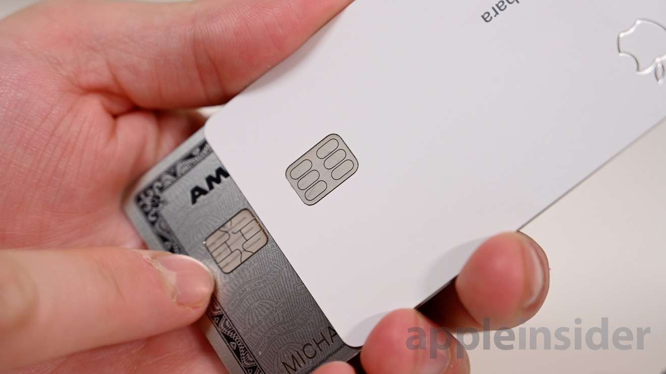Apple Card chip is cleanly designed too