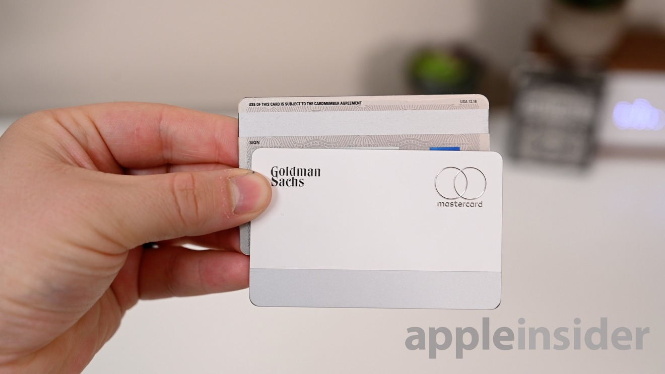 Apple Card magnetic strip is on the bottom