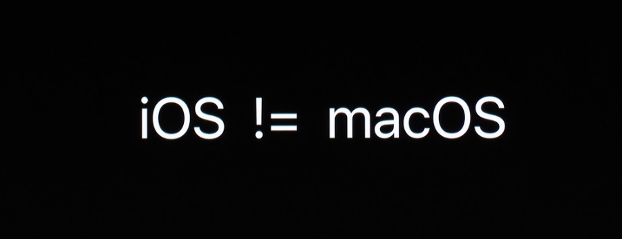 Detail of a slide from Apple's developer sessions about converting iOS apps to the Mac