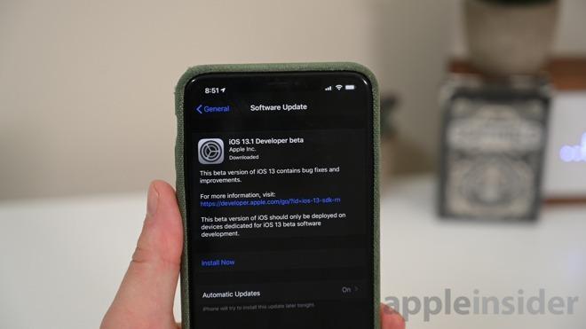 Second developer betas of iOS 13 1, iPadOS 13 1 now