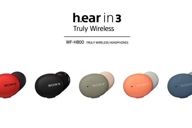 Sony WF-H800 H.ear in 3 come in multiple colors